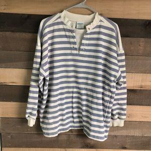 Vintage Striped Men's Sweatshirt size Medium